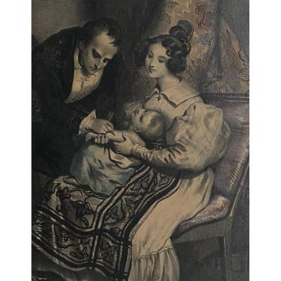 Achille DevÉria (1800-1857): Invention Of The Vaccine Or Immunization Celebrated By Devéria Around1830