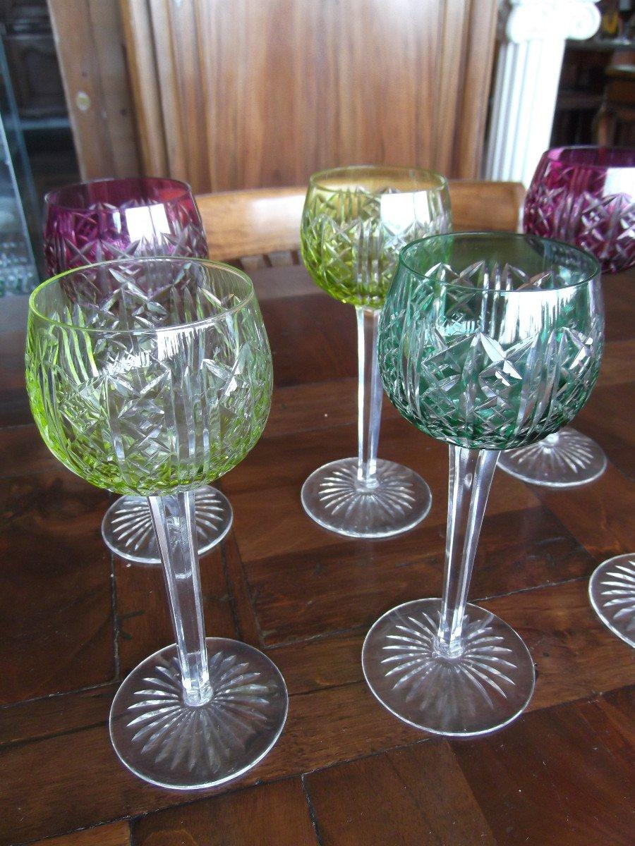 12 Verres En Cristal De Saint Louis-photo-1