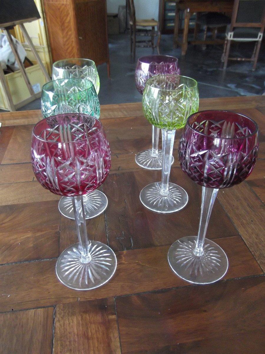 12 Verres En Cristal De Saint Louis-photo-3
