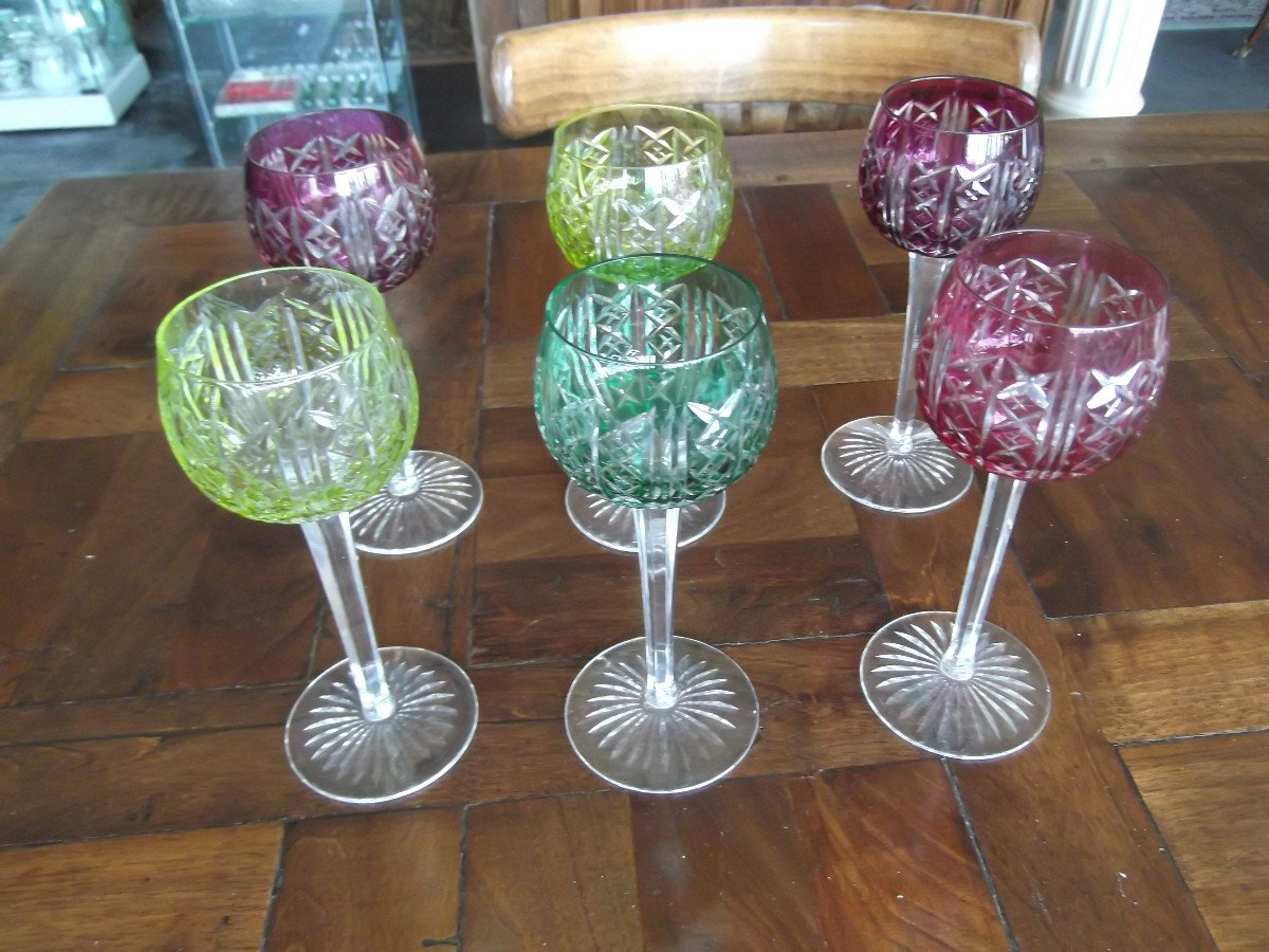 12 Verres En Cristal De Saint Louis