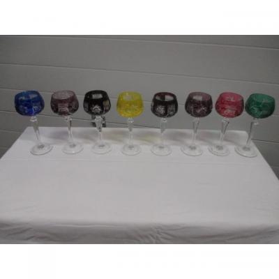 8 verres en Cristal