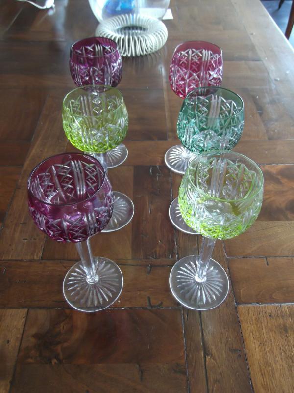 12 Verres En Cristal De Saint Louis-photo-2