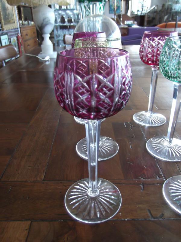 12 Verres En Cristal De Saint Louis-photo-4