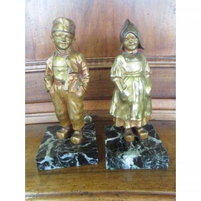 Bronze Aster Young Woman And Young Man