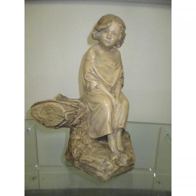 Statue En Terre Cuite