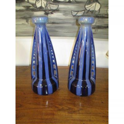 Paire De Vases Art Déco