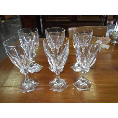 6 Crystal Glasses From Saint Louis