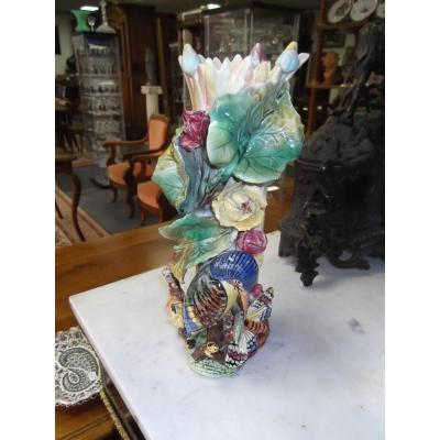 Barbotine Vase
