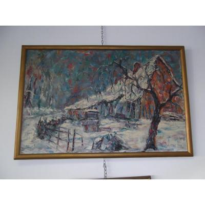 Snowy Landscape Of Reboulet