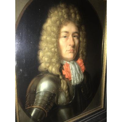 Portrait De Gentilhomme En Armure Dans Le Goût De Nicolas de  Largillière