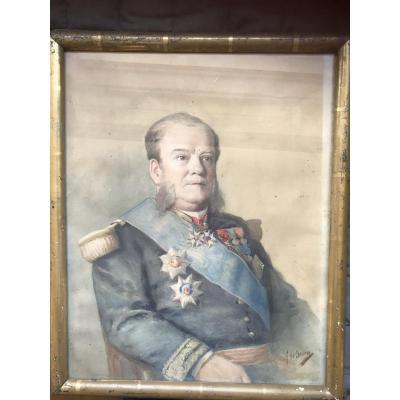 Portrait Of The Beloved Vice Admiral Painted By Alexis Louis De Broca