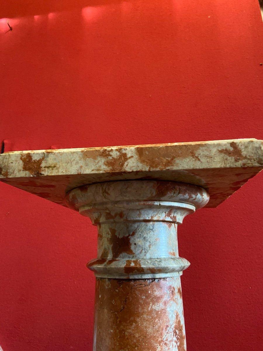 Sellette En Marbre Rouge Du Languedoc -photo-3