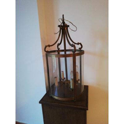 Lanterne bronze et métal doré