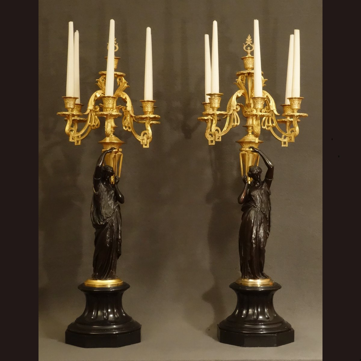 Pair Of Grand Candelabra Middle XIXth