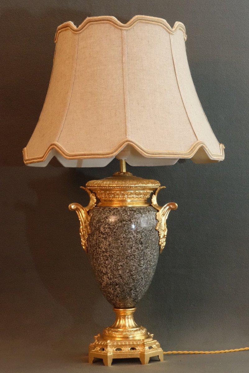 - Paire De Vases Granit Et Bronze XIXème-photo-2
