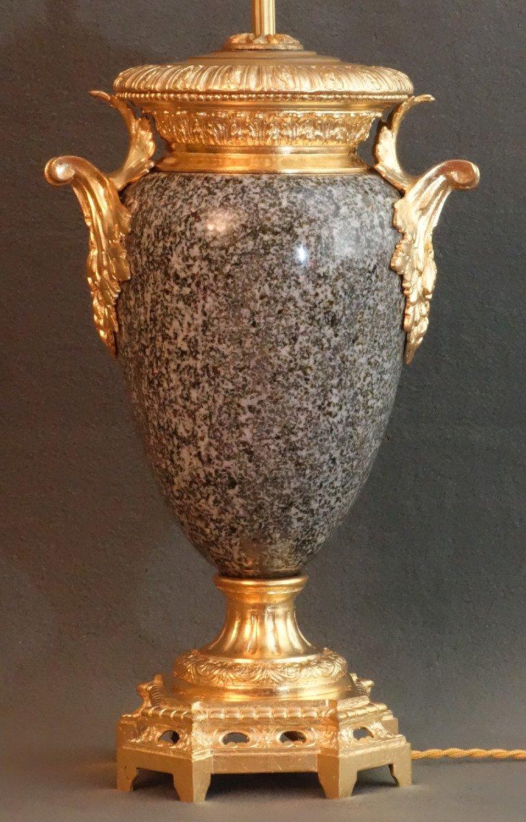 - Paire De Vases Granit Et Bronze XIXème-photo-3