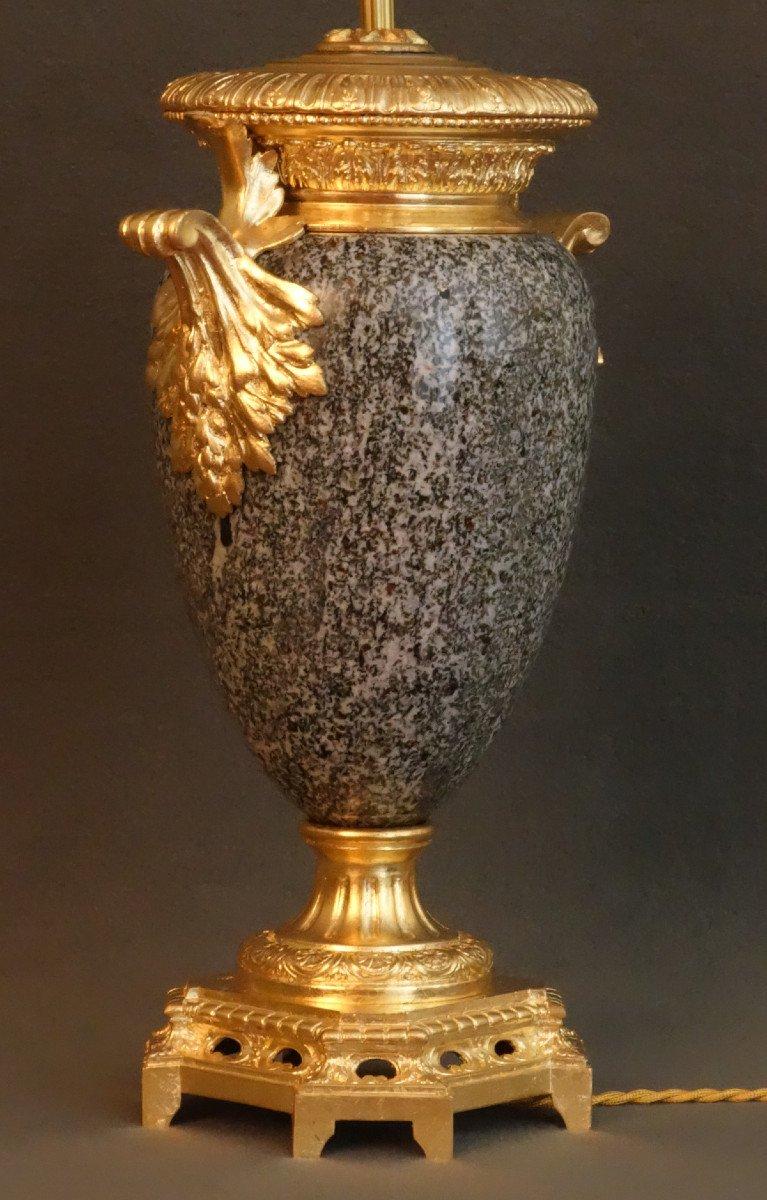 - Paire De Vases Granit Et Bronze XIXème-photo-4