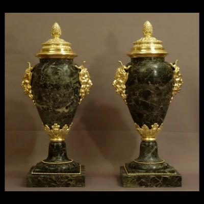 Pair Of Large Pots Covered Style Louis XIV XIXth