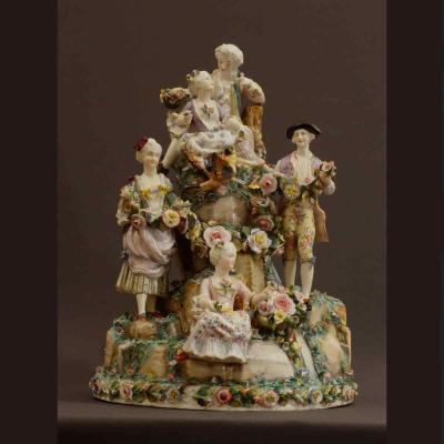 - Très Important Groupe Porcelaine De Wallendorf Milieu XVIIIè