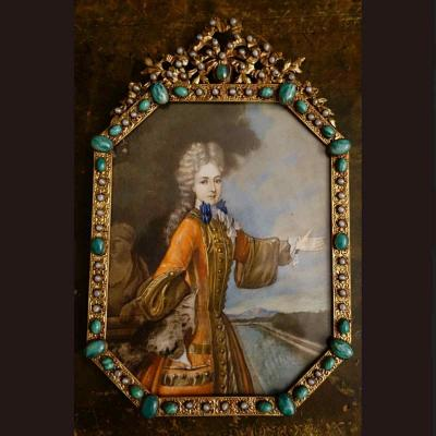 Grand Miniature XVIIIth Of Mademoiselle Adelaïde De Savoie