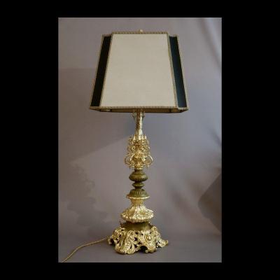- Très Grand Pied De Lampe Epoque Restauration