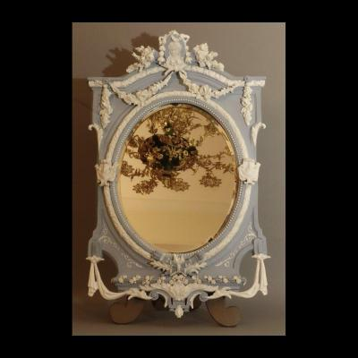 Biscuit Large Table Mirror XIXth