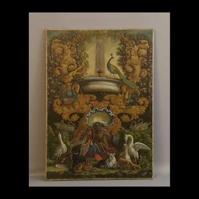 Allegory Of The Fables De La Fontaine 2d Half XVIIIth