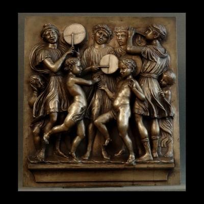 - Important Panneau De La Cantoria De Luca Della Robbia XIXème