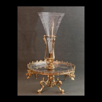 - Grand Centre De Table Fleurier XIXème