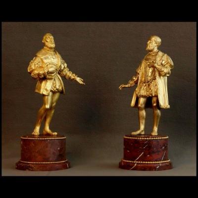 - Paire De Statues Représentant Henri IV Et Sully XIXème