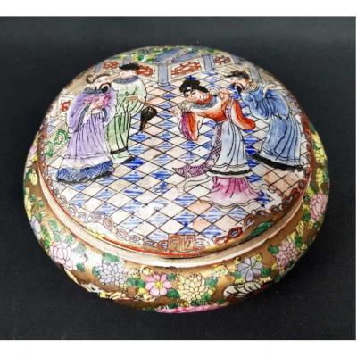 Chine - Bonbonnière En Porcelaine XIX ème