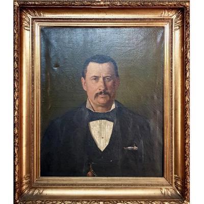 Portrait D'un Notable Au XIX ème