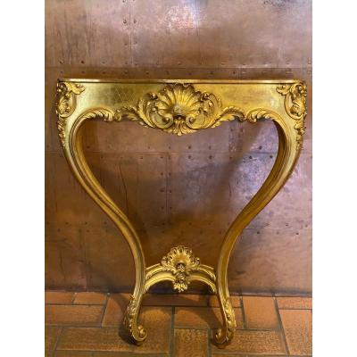 Console D'applique En Bois Doré De Style Louis XV