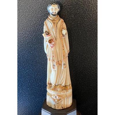 Goa XVIII ème Saint François Xavier  Sculpture Indo-portugaise