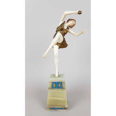 Chryséléphantine LE FAGUAYS PIERRE «danseuse à La Balle»