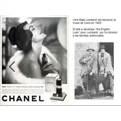 Coco Chanel & Vera Lombardie étui à cigarettes en argent massif
