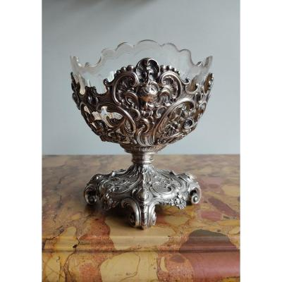 Louis XV Style Cup In Silver And Crystal