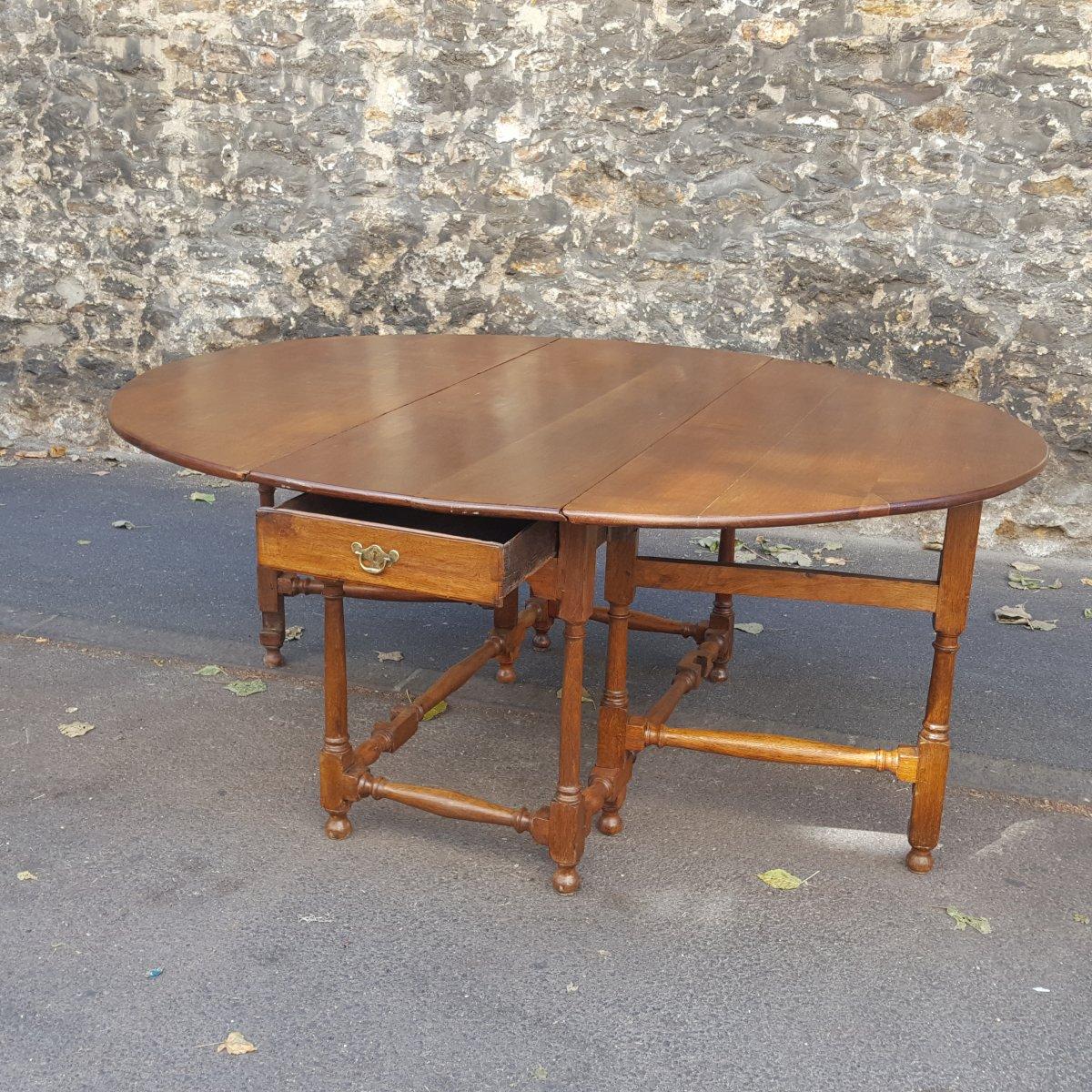 Table XVIIème chêne clair