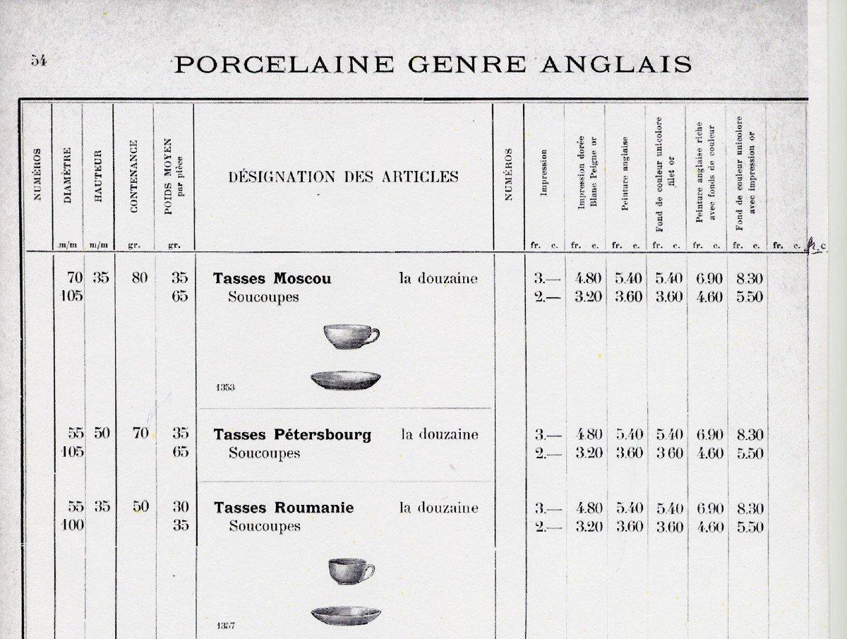 Sarreguemines, 2 Small Porcelain Children's Cups, Decor N ° 252-photo-4