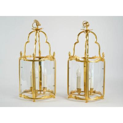 A Pair Of Louis XV Style Lanterns.