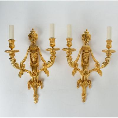 Paire d'Appliques De Style Louis XVI.