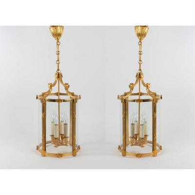 A Pair Of Louis XVI Style Lanterns.