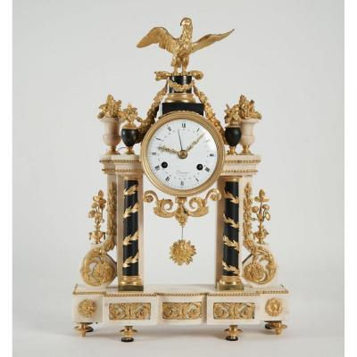 A Louis XVI Period (1774 - 1793) Portico Clock.
