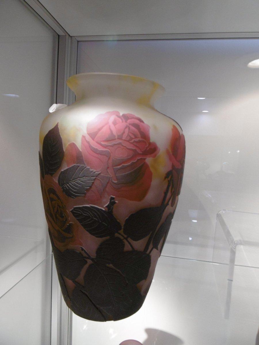 Vase Aux Roses Muller Fréres Luneville