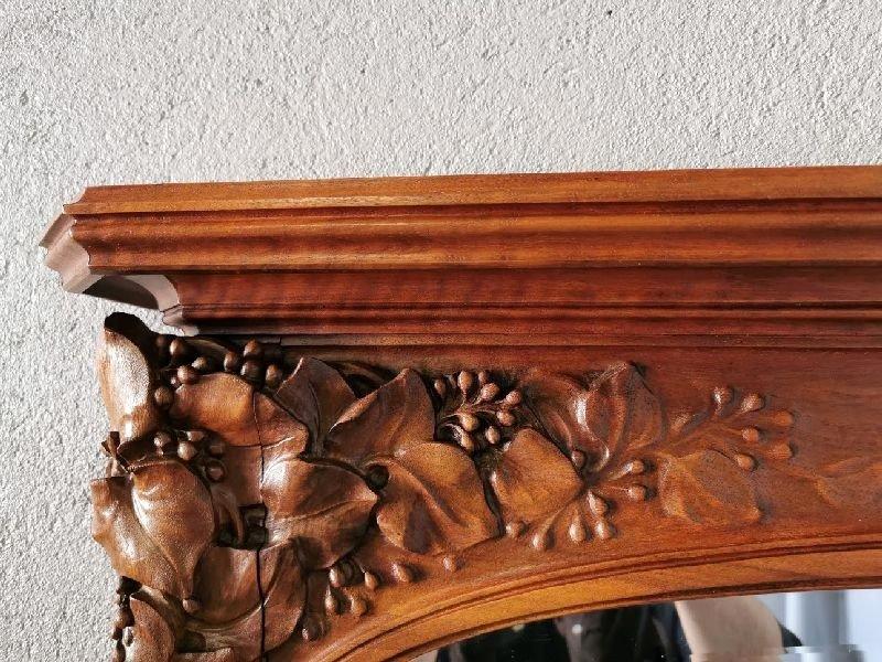 Miroir Art Nouveau Ecole De Nancy Justin Ferez-photo-3