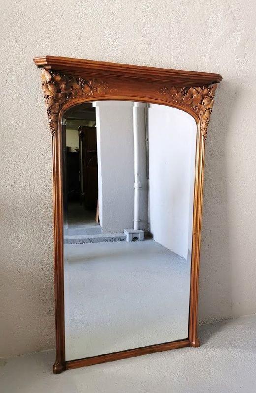 Miroir Art Nouveau Ecole De Nancy Justin Ferez-photo-4