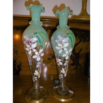 Vases émaillés Legras