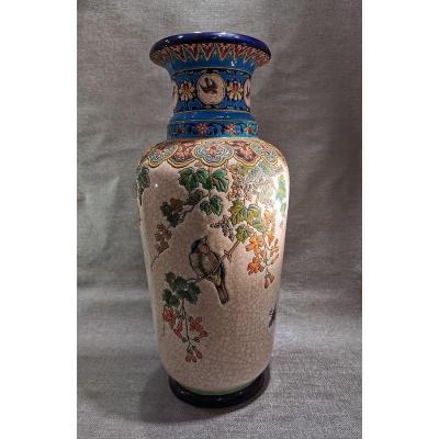 Longwy Grand Vase Art Nouveau