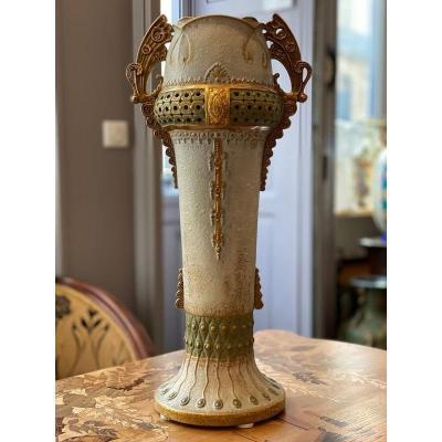 Amphora Large Art Nouveau Vase