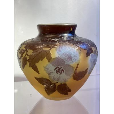 Vase Gallé Aux Bignones Art Nouveau